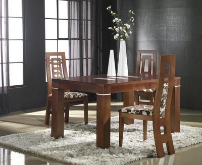 Mesas de comedor de estilo moderno con pata de portería y doble ...