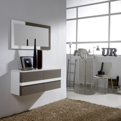 Gran variedad de mueble de entrada colgado a pared de dise o moderno - Taquillones de entrada ...