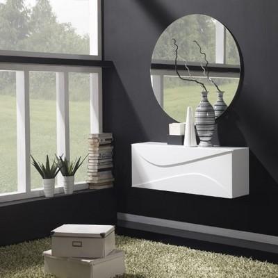 Gran Variedad De Mueble De Entrada Colgado A Pared De Diseno Moderno - Muebles-de-entrada-de-diseo